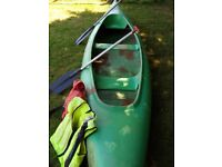 2-3 seater Canadian Canoe, Paddles and Life jackets
