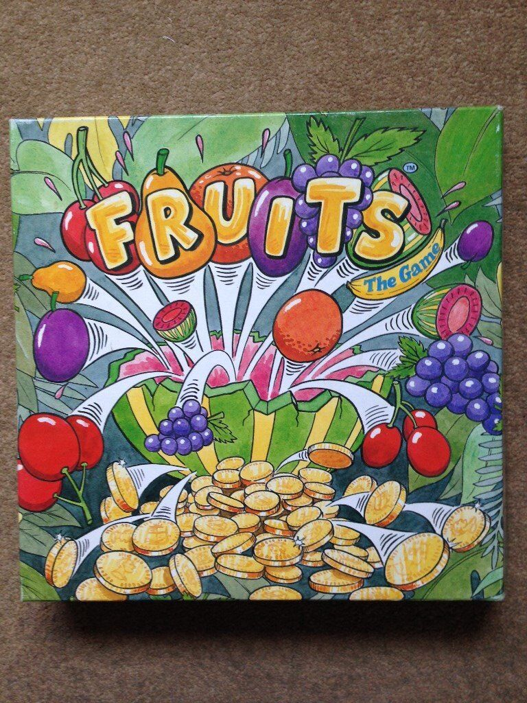 Fruits the Game - Rare dice-rolling board game based on a fruit machine. Difficult to find.