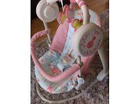 Mamas & Papas Floral/Musical Baby Swing