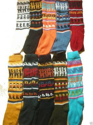 Fair Trade Peruanischer Weich Alpakawolle Warm Winter Dicke Socken Größe 4-9