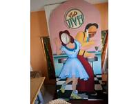 Photo-booth life-size cutout