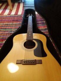 Acoustic Guitar + Hard Case - Dreadnought Bodyshape