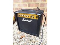 MARSHALL MG15CD 15 Watt Guitar Practice Combo Amplifier With CD Input