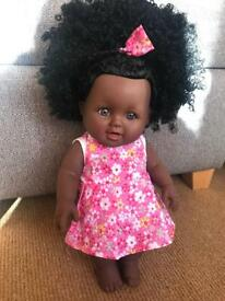 Beautiful black doll with Afro Hair