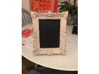 Shabby chic frame with chalk board
