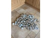 40 Clusters (3 In Each) Of Silver Baubles - 120 In Total