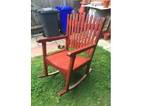 I AM A JOINER AND I HAVE MADE THIS ROCKING CHAIR