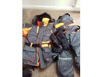 Fisheagle 2 piece flotation suit size xxl plus lifejacket and duffel bag