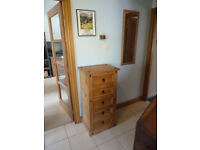 Chest of Drawers. 5 drawers, tall and narrow.