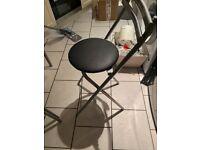 2 Black stools