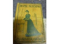 Old Collectible Book Home Nursing by Sister Grace