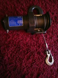 12v 2000lb Power Winch With Remote Control