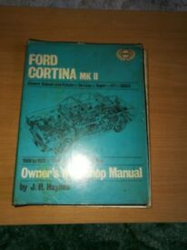 FORD CORTINA MK II HAYNES MANUAL 1966 to 1970 1300CC 1500CC 1600CC COVERS SALOON and ESTATE