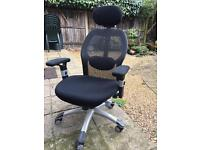 Comfy computer chair with back support and head rest