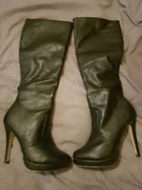 Size 5 'Buffalo' black high heel boots