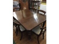 Dining Table (extendable) and six chairs