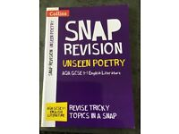 Collins SNAP GCSE Revision Unseen Poetry