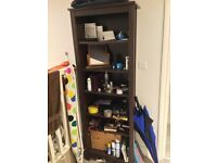 Freestanding Mahogany Bookcase/Shelf Unit - Shepherds Bush
