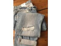 H&M Boyfrined Slim skinny relaxed fitted jeans RRP £35