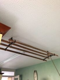 Wooden hanging clothes dryer