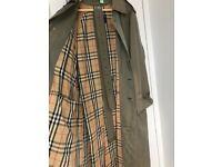 EASTER SALE! Genuine Vintage Burberry Classic Mens Mac Trench Coat, Raincoat Size 50RL