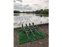 Carp fishing splash mat reels bivvy protection