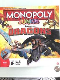 MONOPOLY HOW TO TRAIN YOUR DRAGON JUNIOR
