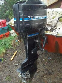 70HP outboard Mercury Engine