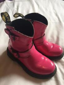 Girls Pink Dr.Martens size 12