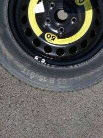 New Steel car wheel and tyre. Never used.