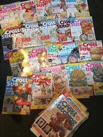51 the world of cross stitching magazines job lot