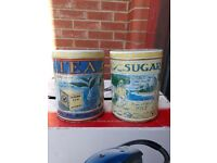 Tea Sugar Cannisters - caddies metal