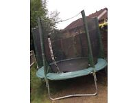 8ft trampoline and enclosure for sale
