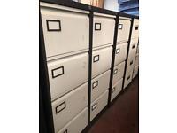 Beige & Brown Filing Cabinet