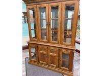 Wooden & Glass cabinet dresser
