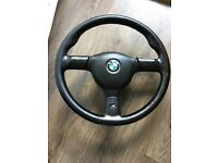 Mtech 2 steering wheel E30, E32, E34. 385mm Original leather