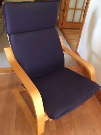 Blue pine chair