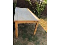 Pine dining table seats six