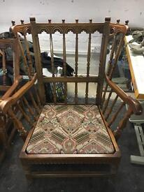 2 Big antique king arm chairs