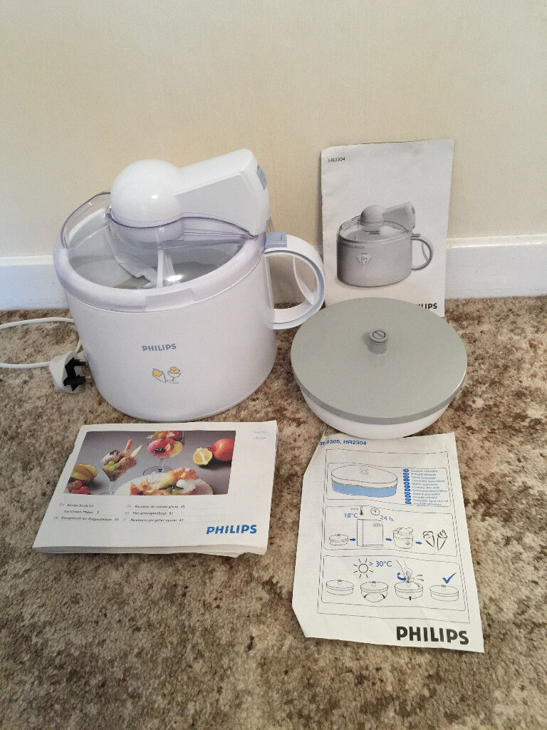 Philips HR2304 Ice Cream Maker in excellent, as new, condition.