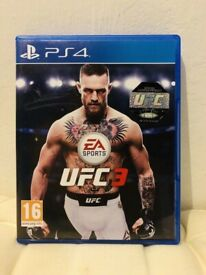 PS4 UFC 3 game in mint condition