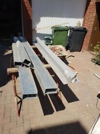 2x lintels, 2x lintel boxes, 1 x catnic - JOB LOT - building materials siders boxes lintels catnicks