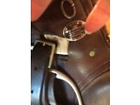 Saddle, English leather GP saddle , size 17.5