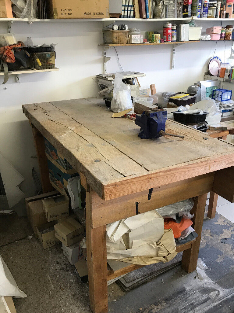 Phenomenal Sturdy Solid Wood Work Bench In Brighton East Sussex Gumtree Dailytribune Chair Design For Home Dailytribuneorg