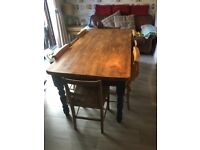 Large Vintage Farmhouse Kitchen Dining Table