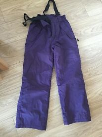 Girls ski trousers and ski jacket from Mountain Warehouse age 11-12