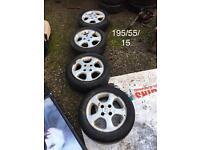 "15"" Peugeot alloys & tyres"