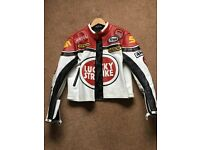 Lucky Strike Motorcycle Mens Leather Jacket As New