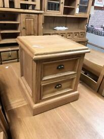 Oak lamp table with drawers