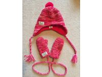 Mexx knitted hat and mitten set